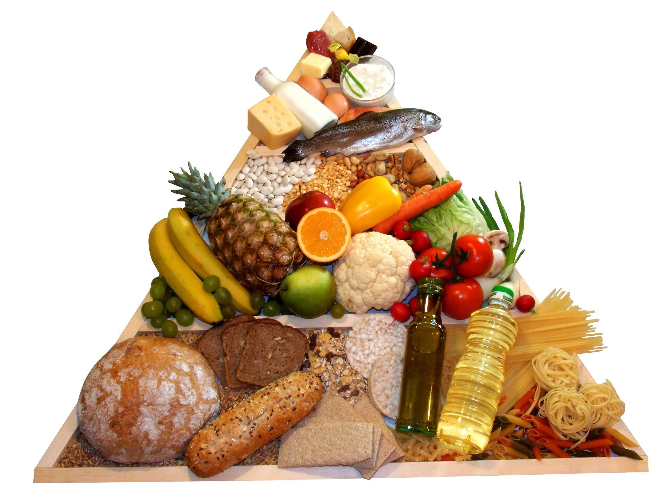 Piramide alimentar alimentos